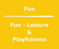 We'll talk about the leisure and fun things of life